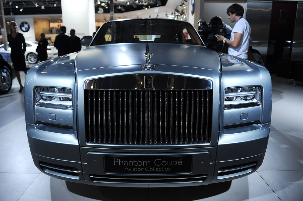 The Rolls-Royce Phantom Coupe displayed at Moscow International Automobile Salon.