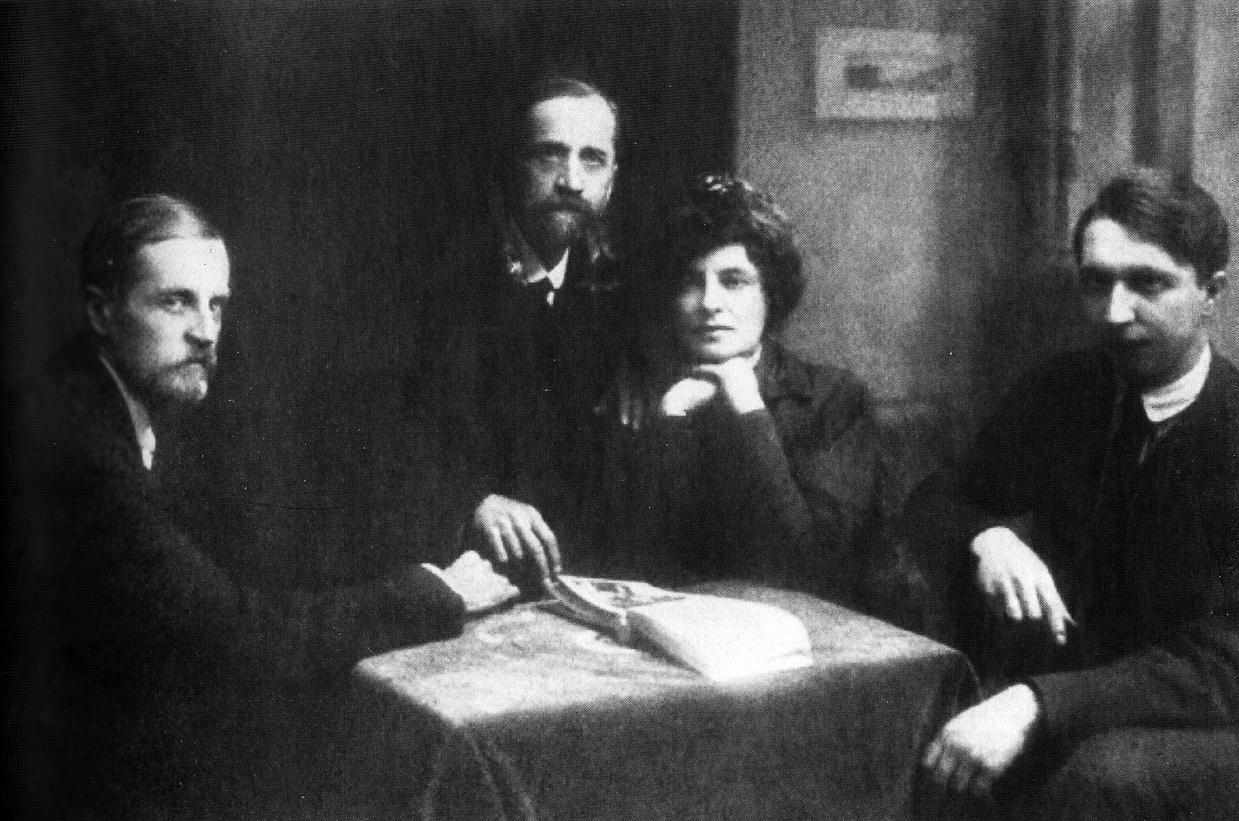 ドミトリー・フィロソフ、 ドミートリイ・メレシュコフスキー、 ジナイーダ・ギッピウス, ヴラジーミル・ズロービン。 1919年〜1920年=