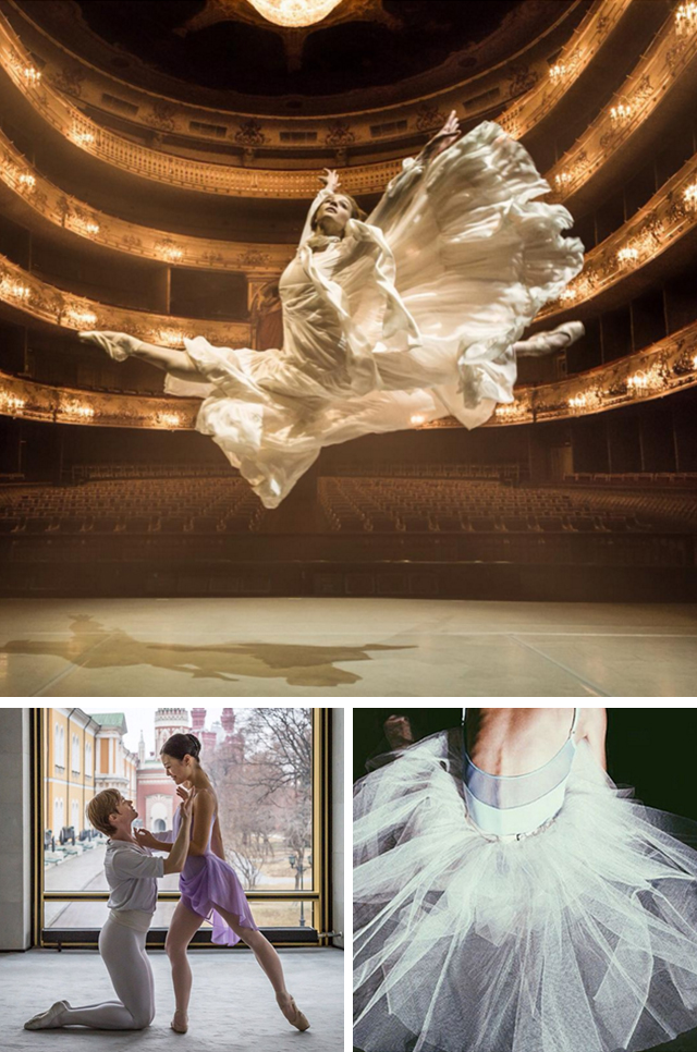 @balletinsider An online magazine about Russian ballet publishes materials in both Russian and English. The texts are not the most important thing here, but the photo shoots are wonderful and this Instagram account shows them all.