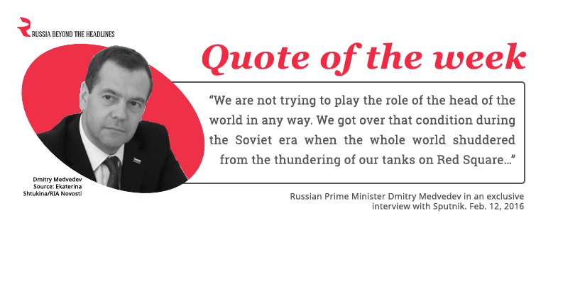 Russian Prime Minister Dmitry Medvedev in an interview with Sputnik.Through a diplomat's eyes: Foreign Minister Sergei Lavrov in 7 quotes>>>