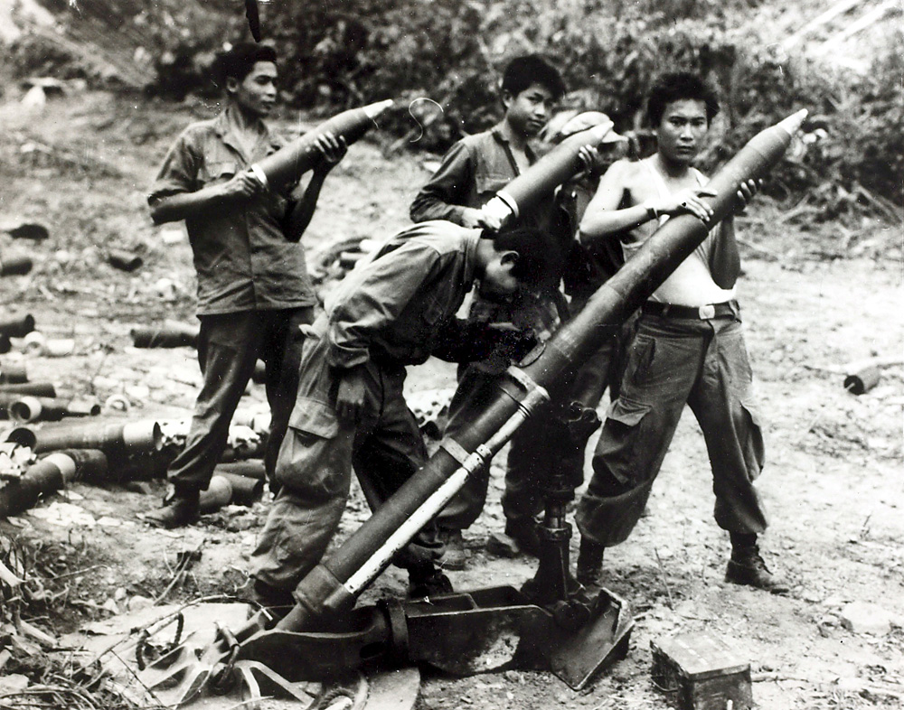 Laotian soldiers near Vietnam in the 1960s.