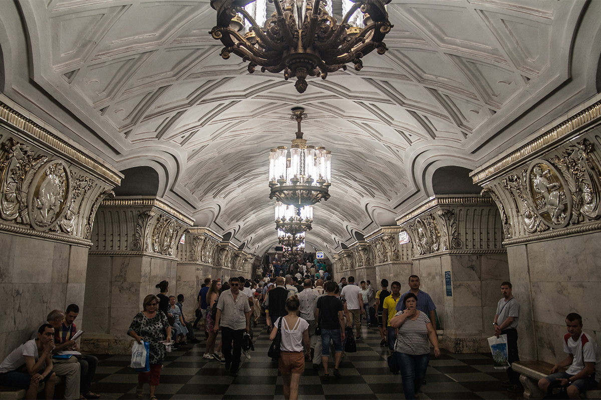"Hungarian photographer Szabolcs Vörös tells a photographic story, that can be called ""How I Was Impressed by the Moscow Metro."""