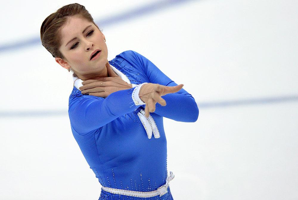 2015年12月26日、ロシア選手権に出場しているユリア・リプニツカヤ=