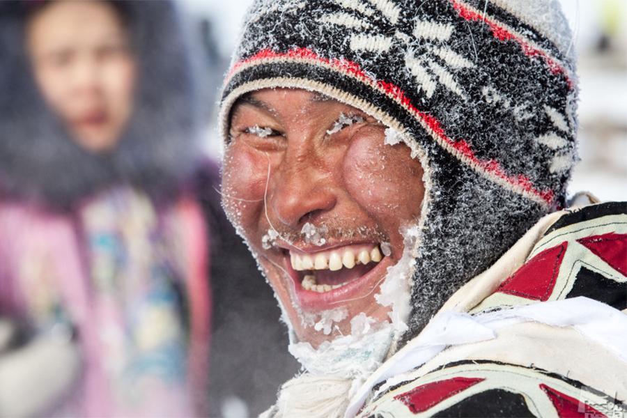 「ベスト・オブ・ロシア」の写真プロジェクトで最大の部門は「人々。出来事。日常生活」と称するものだ。その中から佳作の写真を紹介する。/ 男性トナカイ飼育コンテストの勝者。