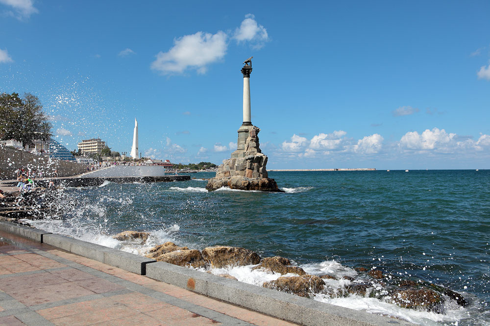 Monument to the drowned ships in Sevastopol.
