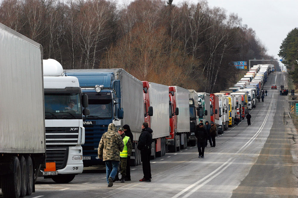 Russia may ban all vehicles from Ukraine.