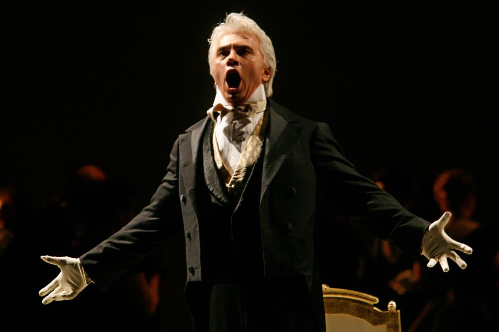 Russian opera singer Dmitri Khvorostovsky.