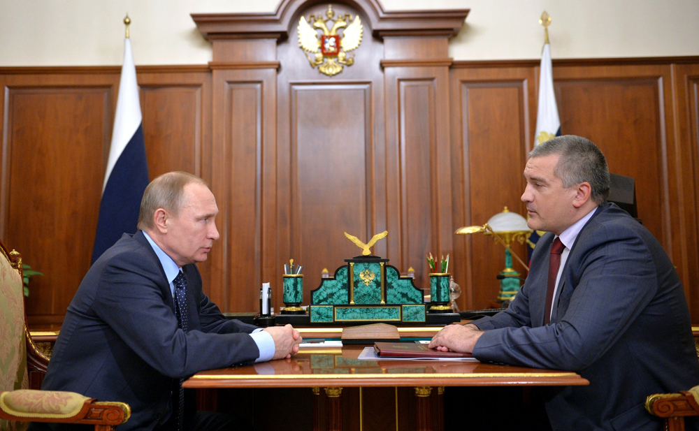 Vladimir Putin and Sergei Aksyonov, Feb. 20, 2016.