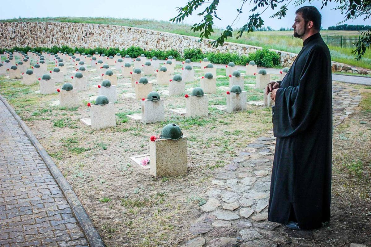 Durante la Battaglia di Stalingrado è morto oltre un migliaio di soldati, riseppelliti il 22 giugno 2015