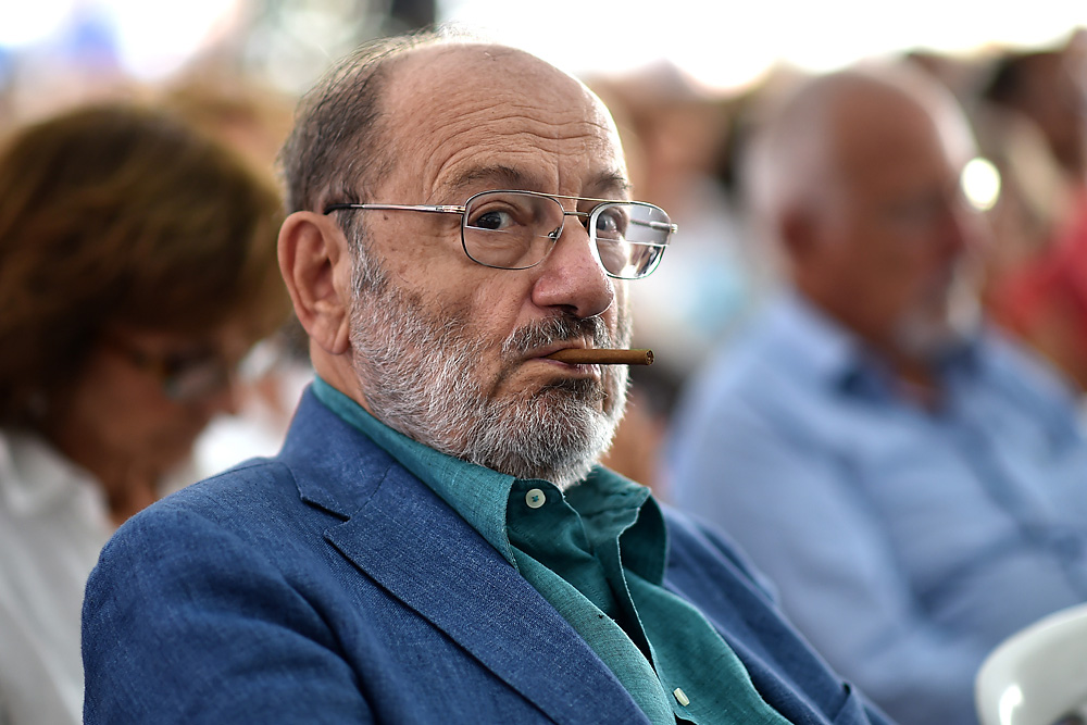 Umberto Eco attends Festival Della Comunicazione on September 13, 2014 in Camogli, Italy.