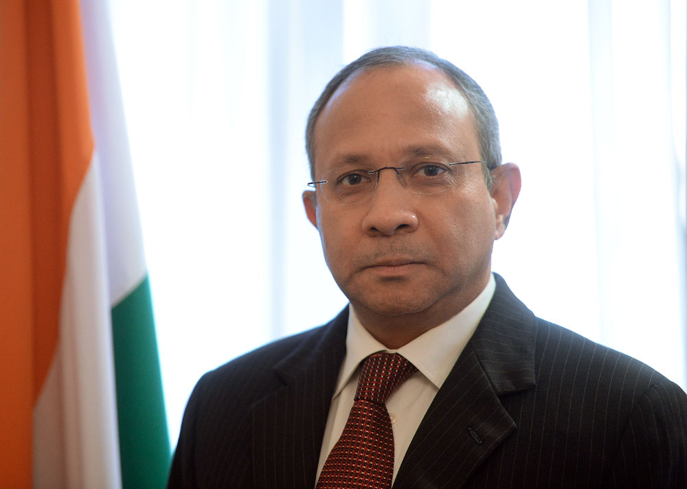 Pankaj Saran, the Indian Ambassador to Russia.