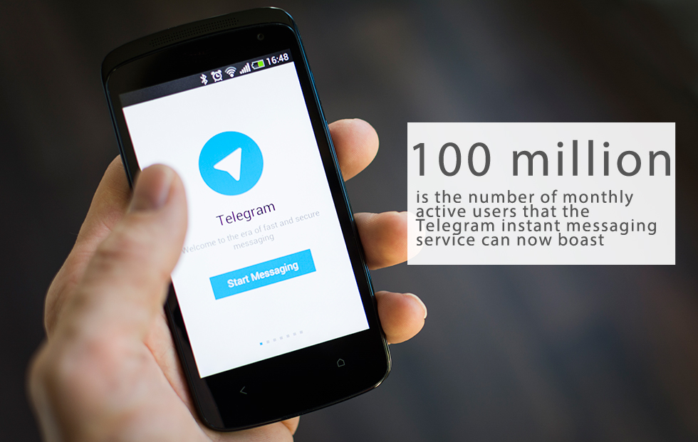 "Pavel Durov, creator of Russia's most popular social network VKontakte, launched the encrypted messaging app Telegram two years ago.Now Telegram has more than 100,000,000 monthly active users, up from 60 million people last May. This growth is coming from all over the world. Developers say that Telegram now handles 15 billion messages daily""Every day, 350,000 new users sign up for Telegram,"" said Durov. ""And we have zero marketing budget.""Instant messaging apps: Social resource or security threat?"