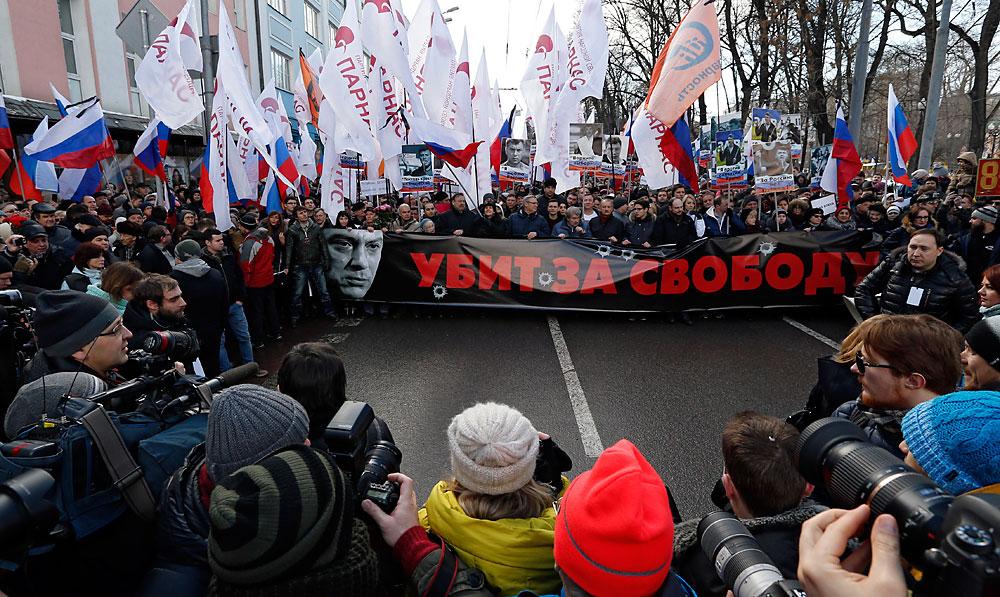 27. фебруара у Русији и другим земљама одржане су акције у знак сећања на бившег првог потпредседника руске владе, једног од лидера прозападне опозиције Бориса Немцова, који је убијен пре годину дана неколико стотина метара од Кремља.