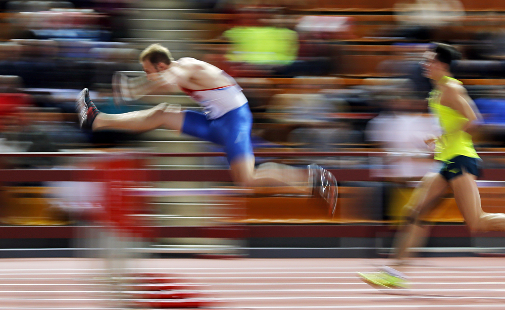 Athletes compete during the Russian Indoor Championships 2016 in Moscow, Russia.
