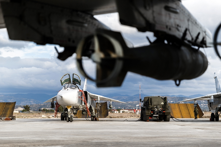 The Russian Defense Ministry has announced the creation of a coordination center at the Khmeimim airbase that will monitor the ceasefire between the government forces and the opposition in Syria on Feb. 23.