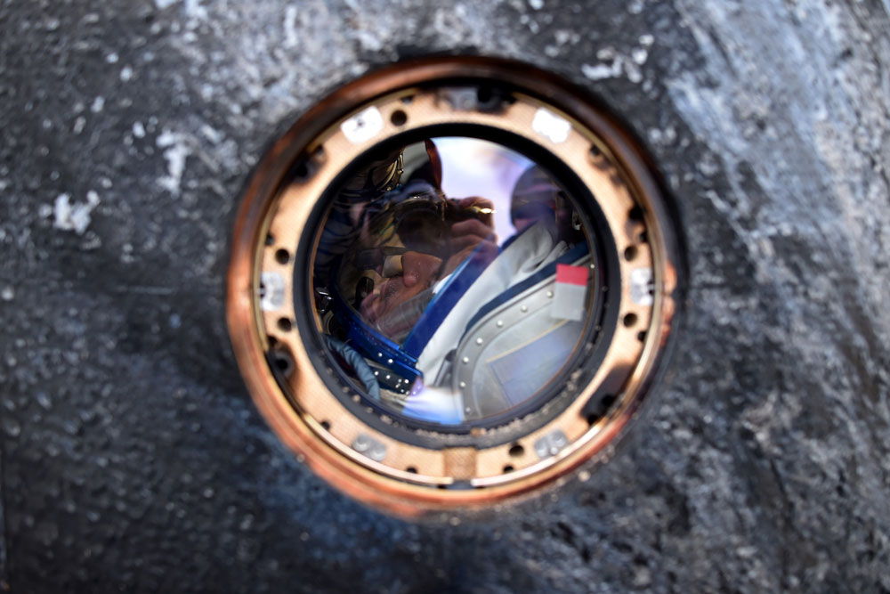 International Space Station (ISS) crew member Mikhail Kornienko of Russia is seen inside the Soyuz-TMA-18M space capsule after landing near the town of Dzhezkazgan, Kazakhstan, Wednesday, March 2, 2016. U.S. astronaut Scott Kelly and Russian cosmonaut Kornienko returned to Earth on Wednesday after spending almost a year in space in a ground-breaking experiment foreshadowing a potential manned mission to Mars.