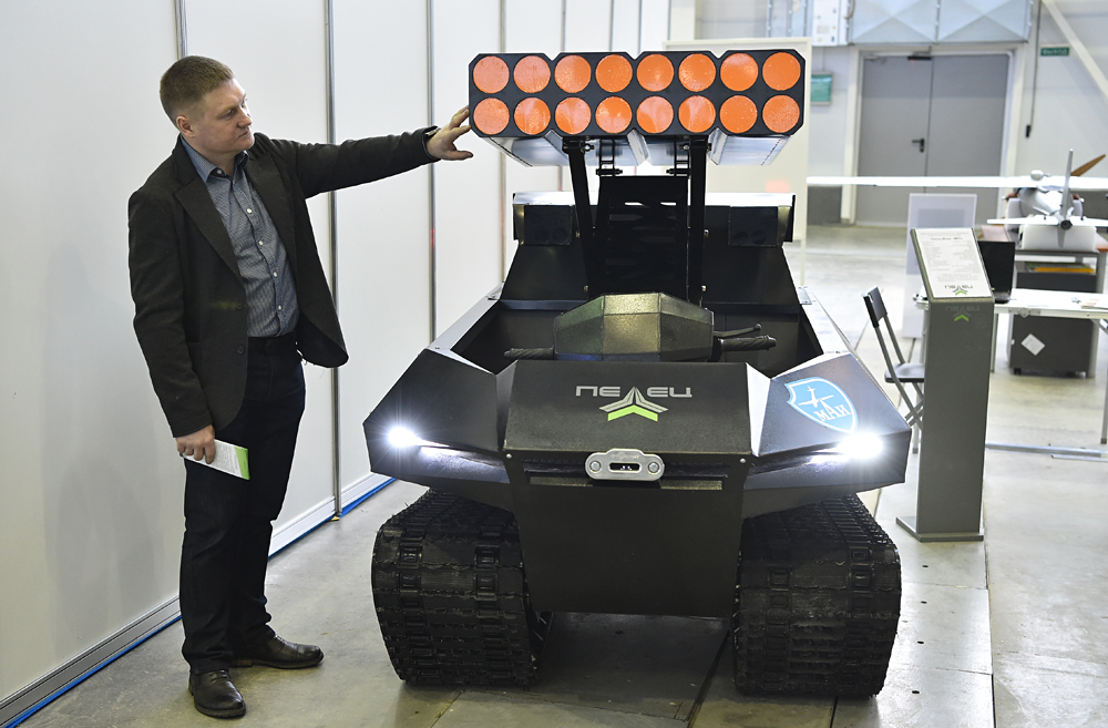 This rover is based on the Pelets-300 and Pelets-mini all-terrain vehicles. The platform is equipped with an intelligent automatic control unit. Robot rovers can be used in hazardous areas or as unmanned patrol vehicles.