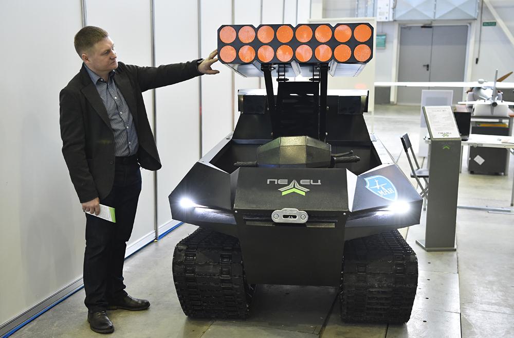 Mobil rover ini dibuat berdasarkan model Pelets-300 dan kendaraan Pelets mini segala medan. Platform ini dilengkapi dengan unit kontrol otomatis yang cerdas. Robot rover dapat digunakan di daerah berbahaya atau sebagai kendaraan patroli tak tanpa awak.