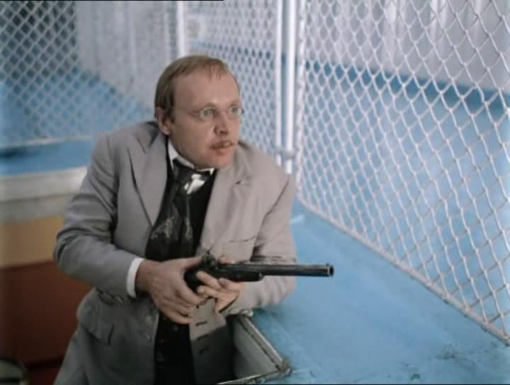 Oleg Myagkov as Yuli Karandyshev in Nikita Mikhalkov's 'Cruel Romance.' Source: kinopoisk.ru
