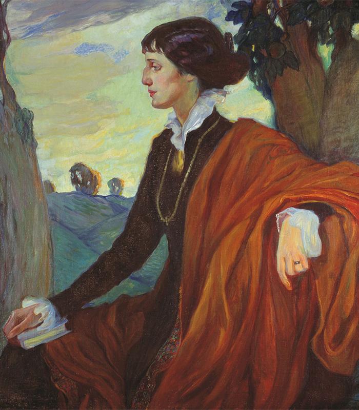"""Анна Ахматова (на картината) е харизматичен поет. Тя е икона на красотата и е модел за много художници, включително Модиляни и Олга Дела-Вос-Кардовска. / Олга Дела-Вос-Кардовска, """"Портрет на А.А. Ахматова"""", 1914 г."""