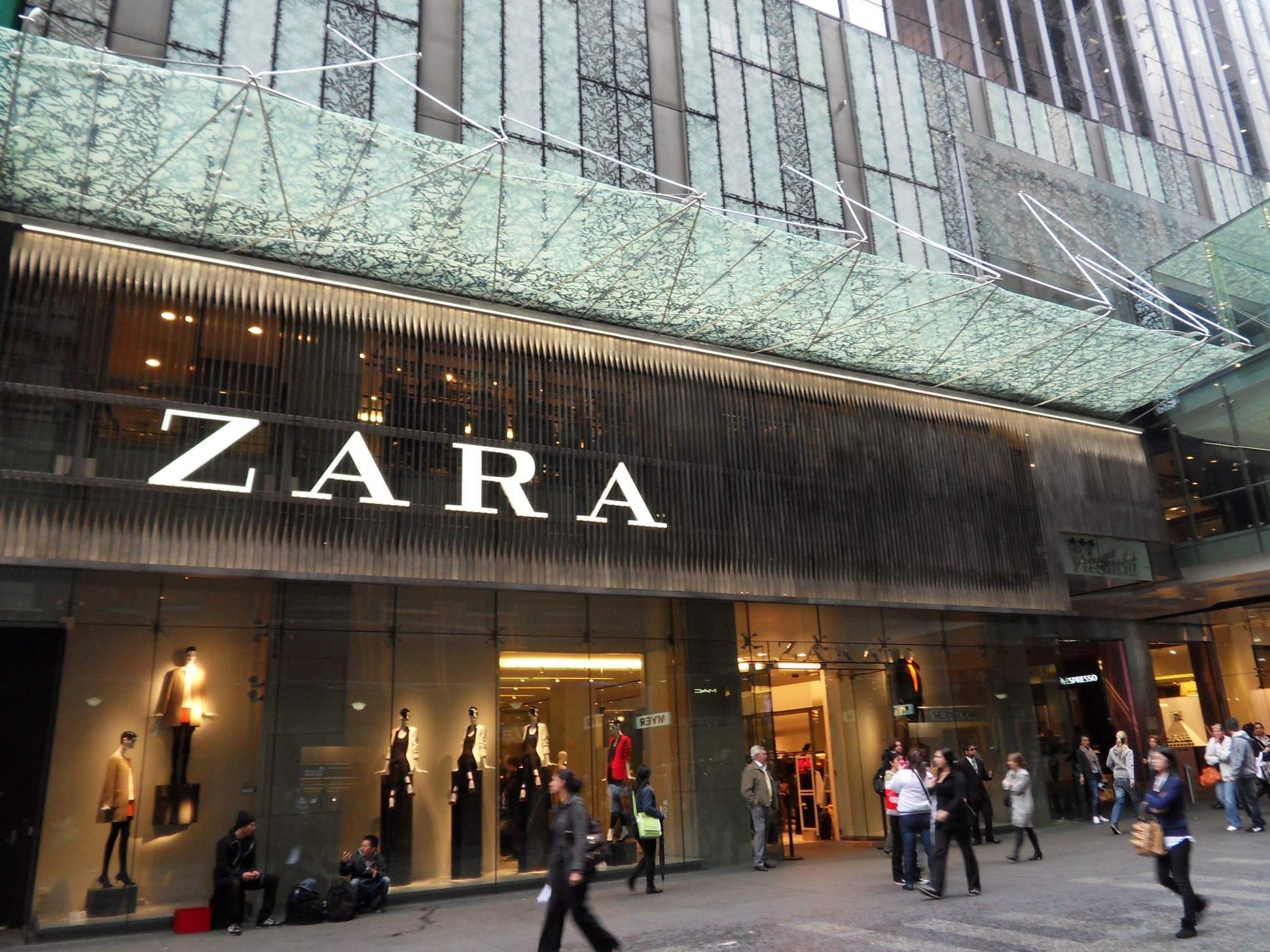 Zara operates more than 2,000 stores worldwide.