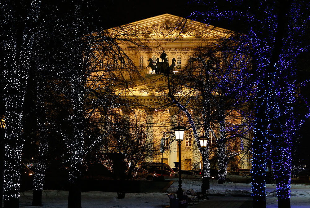 A general view shows the Bolshoi Theatre in central Moscow, Russia.