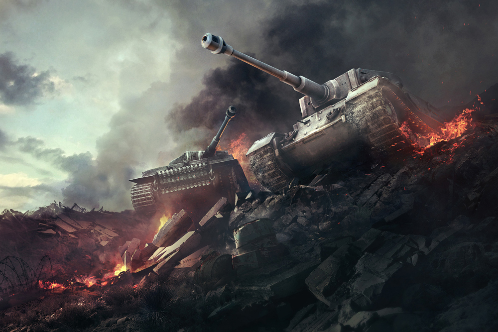 World of Tanks features more than 300 models of real machines.