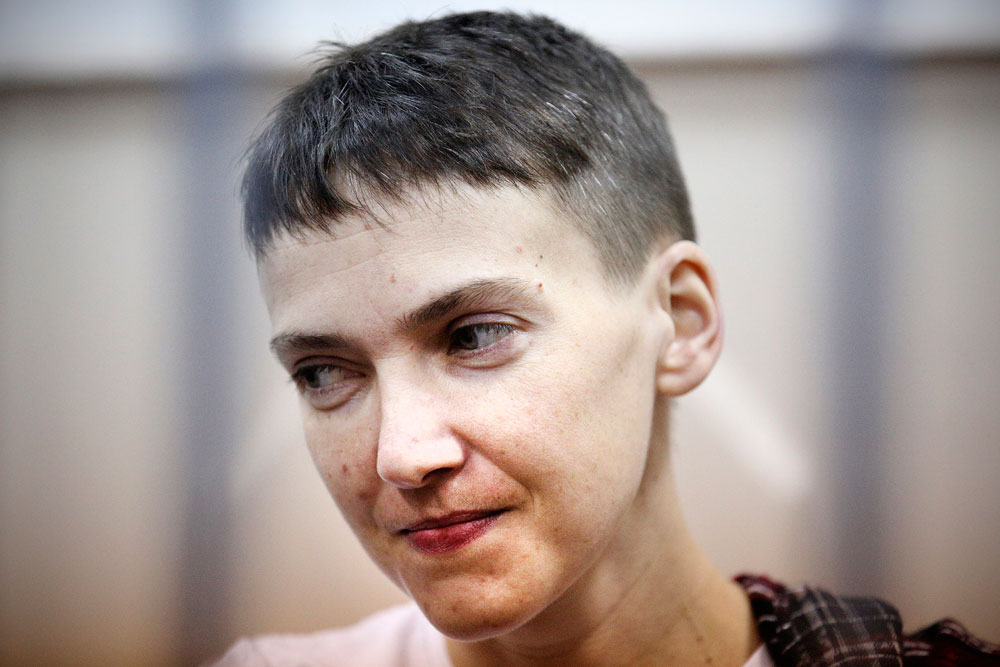 Ukrainian military officer Nadiya Savchenko.