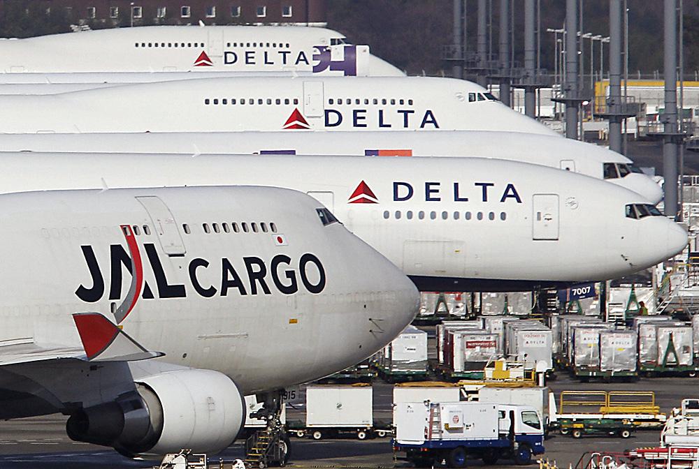 Les avions de la compagnie aérienne Delta Airlines.