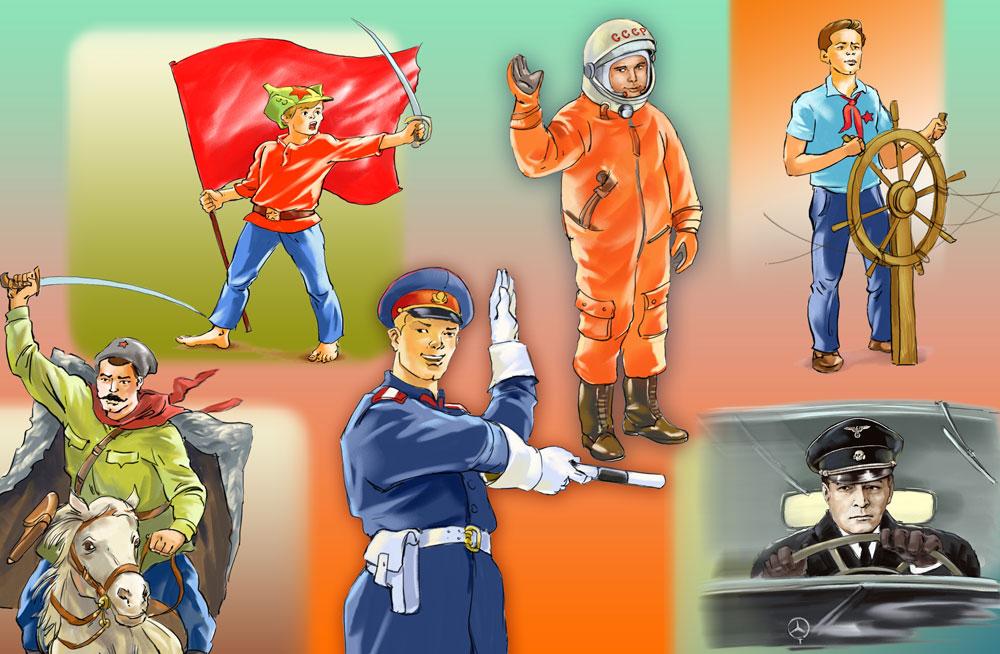 De cosmonautas a espiões, os super-heróis da URSS width=