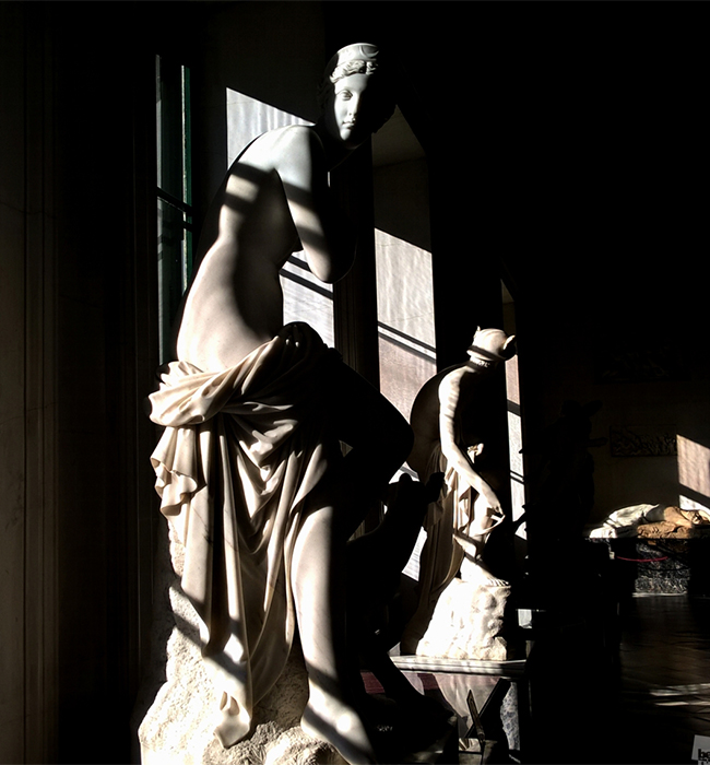 Shadows on statues in the Hermitage Museum, St. Petersburg. / For more photos from 'Best of Russia' series follow the link.