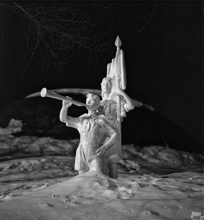 "A photo from the series, ""Snow-Covered Dreams About the Young Pioneers,"" Khabarovsk, Russian Far East."