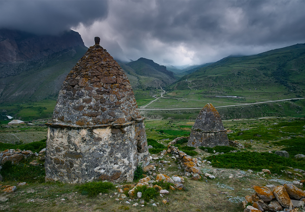 An ancient cemetery of the Alans, an Iranian nomadic people of antiquity that settled in the Caucasus region 2,000 years ago.