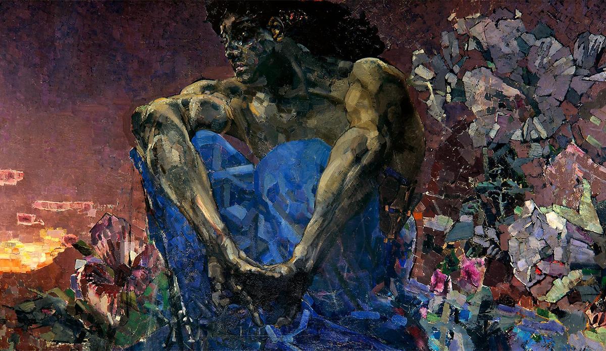Le deuxième acte se tient à Moscou. Il commence en 1890 avec la célèbre peinture « le Démon assis », et finit en 1901, avec le tableau « le Démon terrassé » ainsi qu'avec  l'hospitalisation de l'artiste. / Le démon assis, 1890.