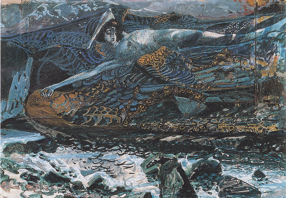 "It is said that Mikhail Vrubel sold his soul to the devil. So, it is no coincidence, that all his problems and tragedies began when he was working on the ""Fallen Demon"" painting. / Fallen Demon, 1901."
