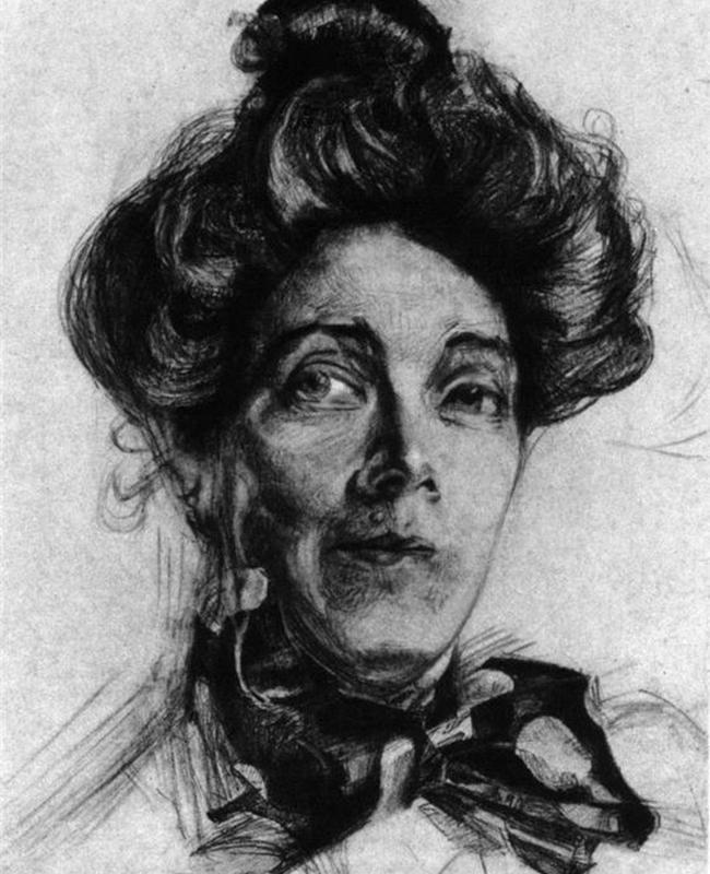 L'année suivante, Vroubel devient aveugle et finit donc sa dernière peinture au toucher. Son monde tout entier sombre lentement dans les ténèbres. / La femme de l'artiste, Nadejda Zabela, 1905.