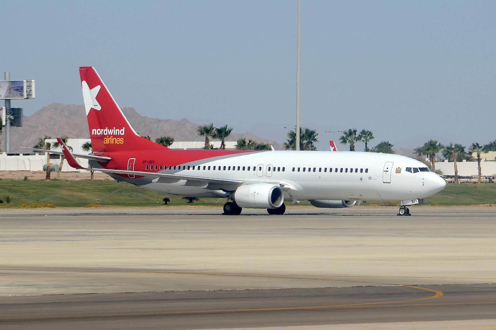 Boeing 737-83N Nordwind Airlines.