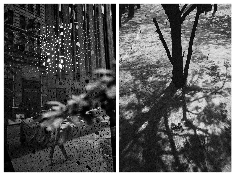 Четири месеца по-късно се преместих в Москва, където имах същото усещане. Никога не бях посещавал града, но имах чувството, че вървя по същите улици и към същите сгради и кафенета, където вече съм бил. Срещах същите хора и разговаряхме по същите теми. Продължих да правя вертикални снимки, докато съзнанието ми намираше прилики във времето и пространството.