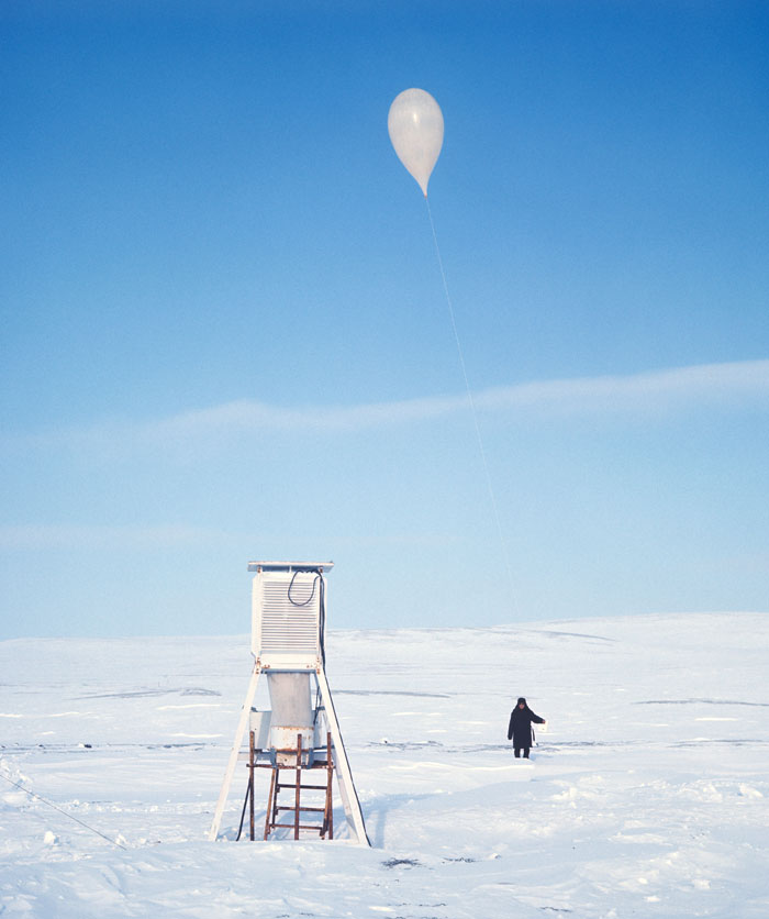 1973. Meteorological station on Bering Island near Kamchatka.