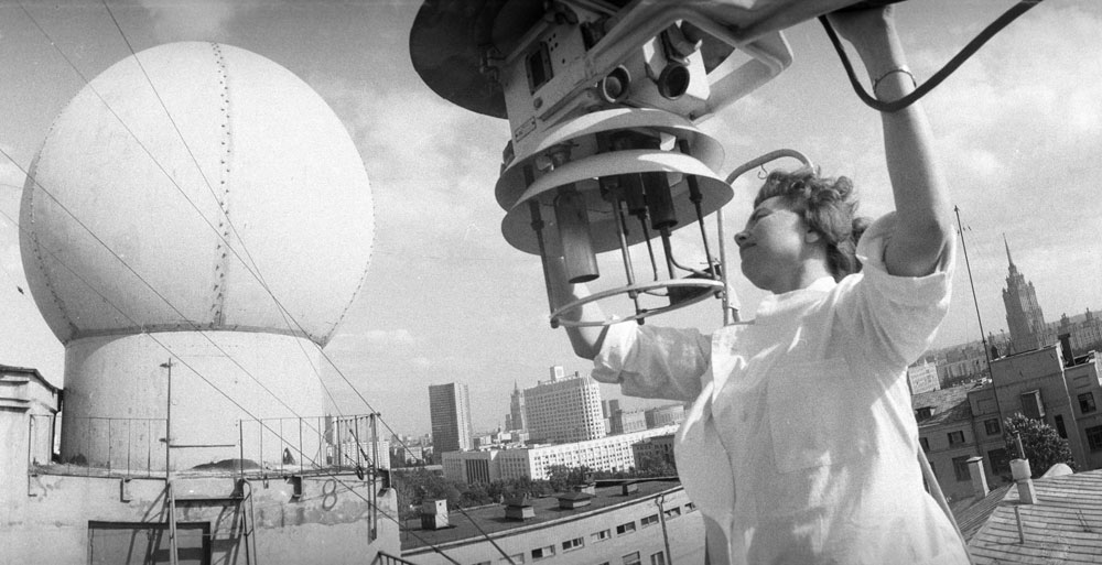 1981. Automatic weather station in Moscow.