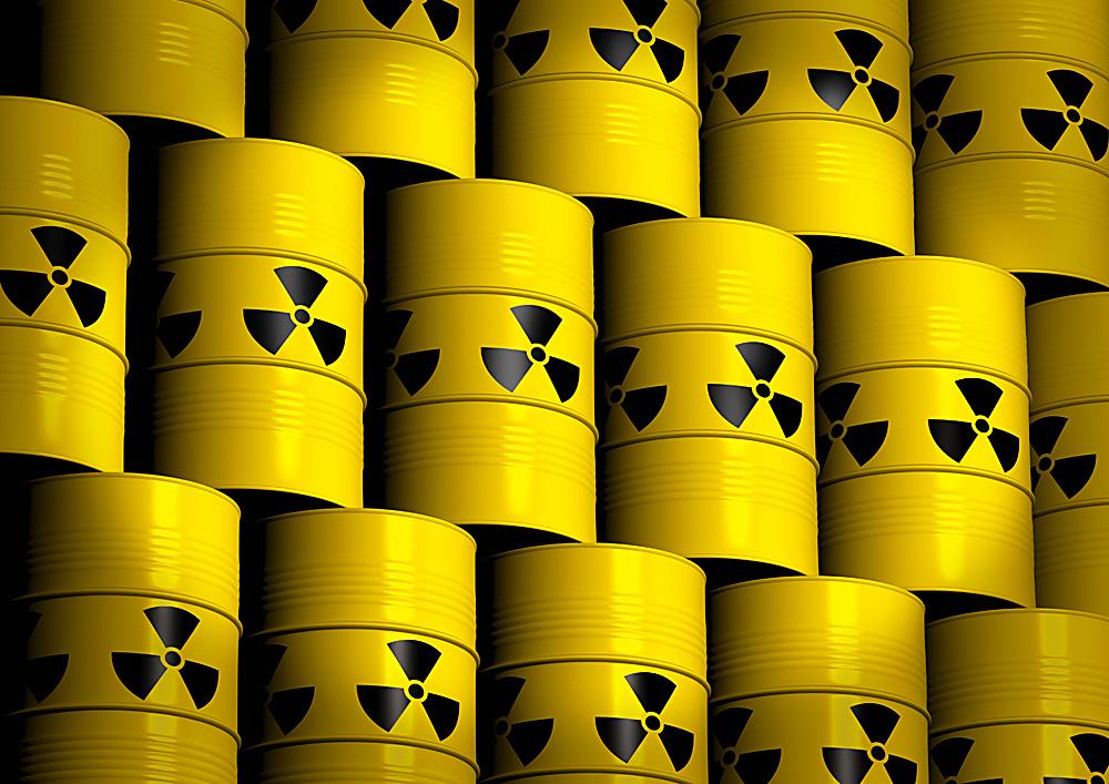 Barili di scorie nucleari.
