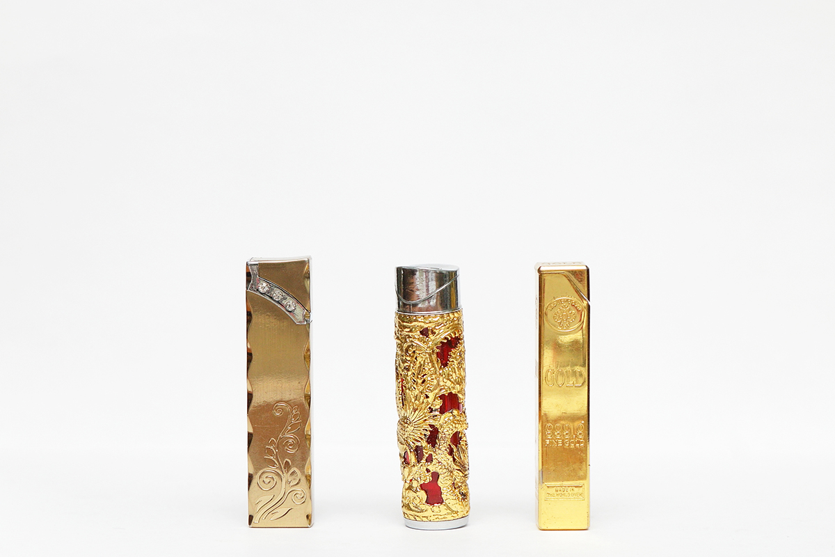 Opulently decorated lighters for women.