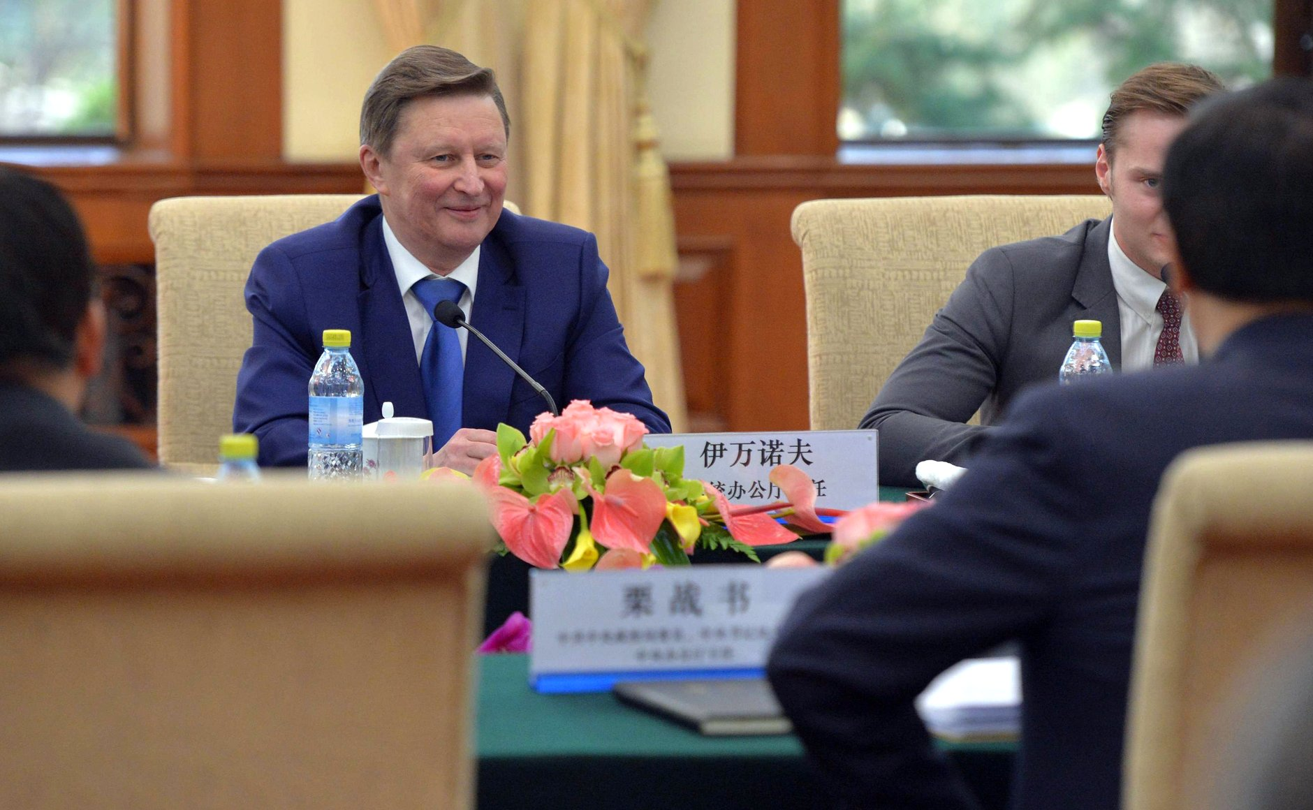 Sergei Ivanov during talks with Director of General Office of Chinese Communist Party Li Zhanshu.