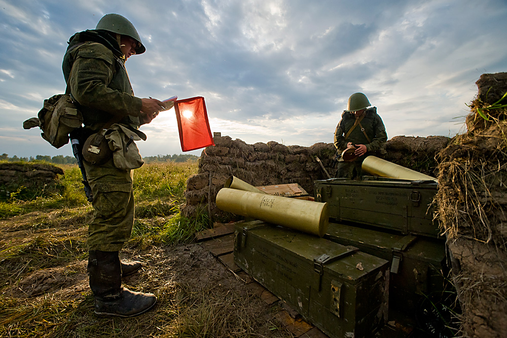 Military drills in the Kaliningrad Region.
