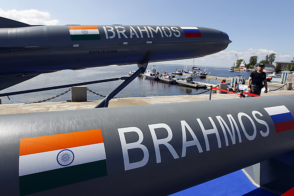 Brahmos supersonic missiles, jointly developed by India and Russia.