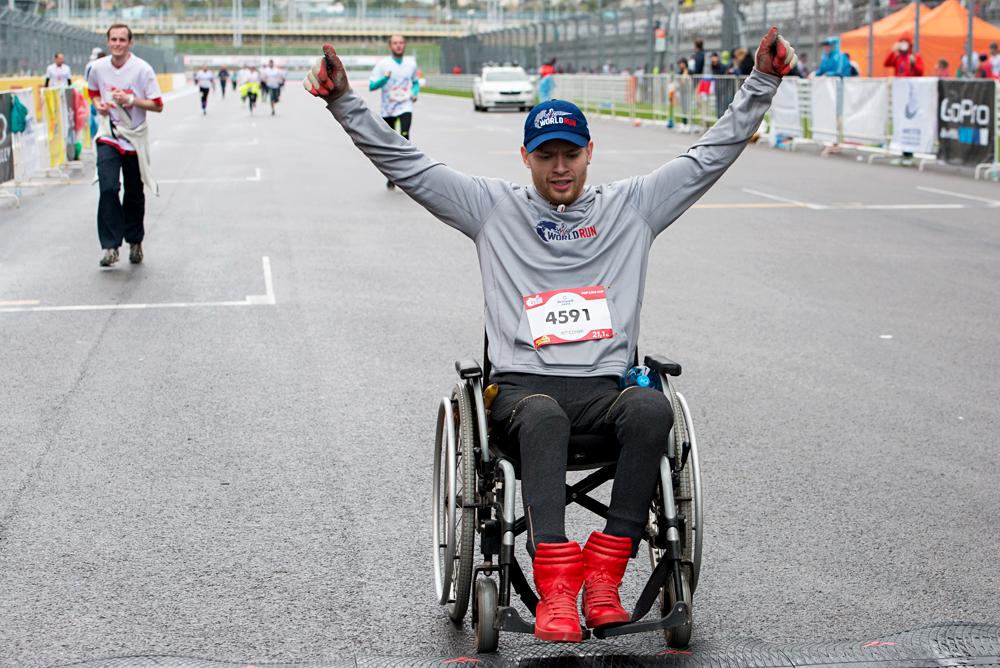 Die Strecke des Halbmarathons in Sotschi führte durch das Olympische Dorf und über die Rennstrecke der Formel 1.