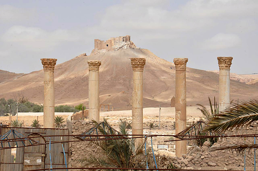 The old citadel of Palmyra, March 27, 2016.