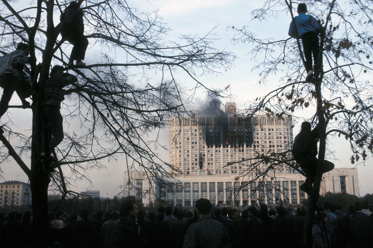 Storming of the White House in Moscow, 1993.
