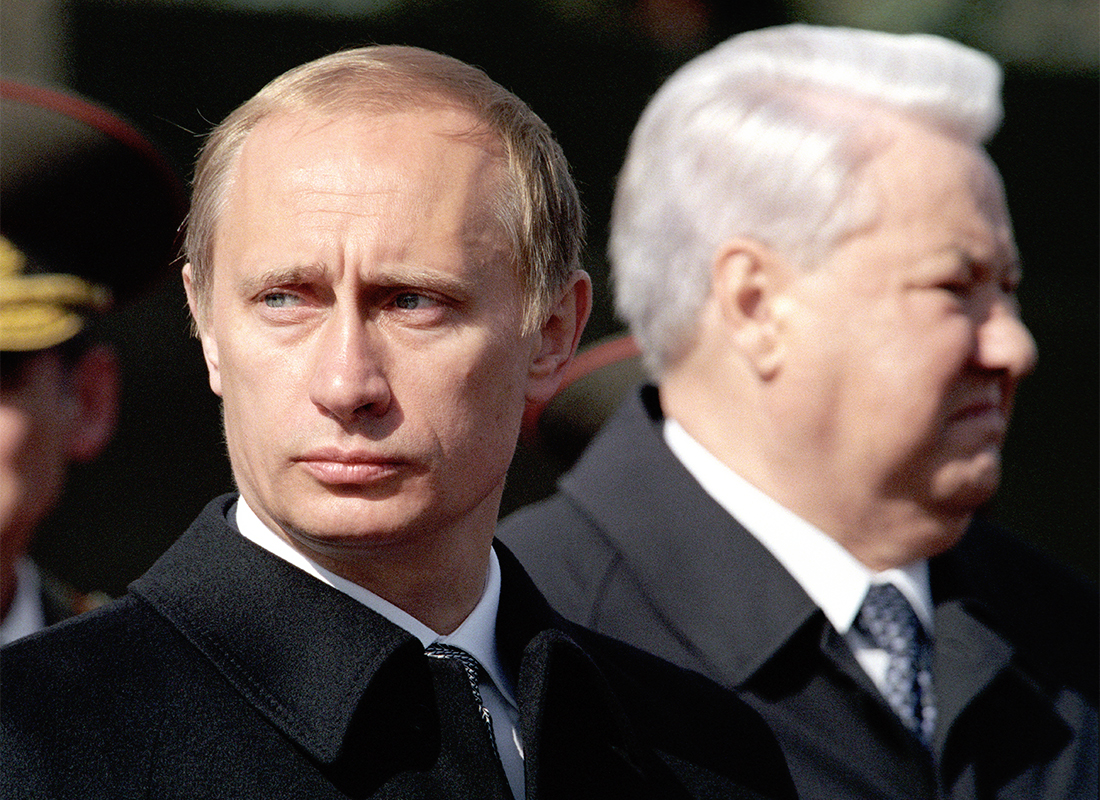 Vladimir Putin and Boris Yeltsin, 2000.