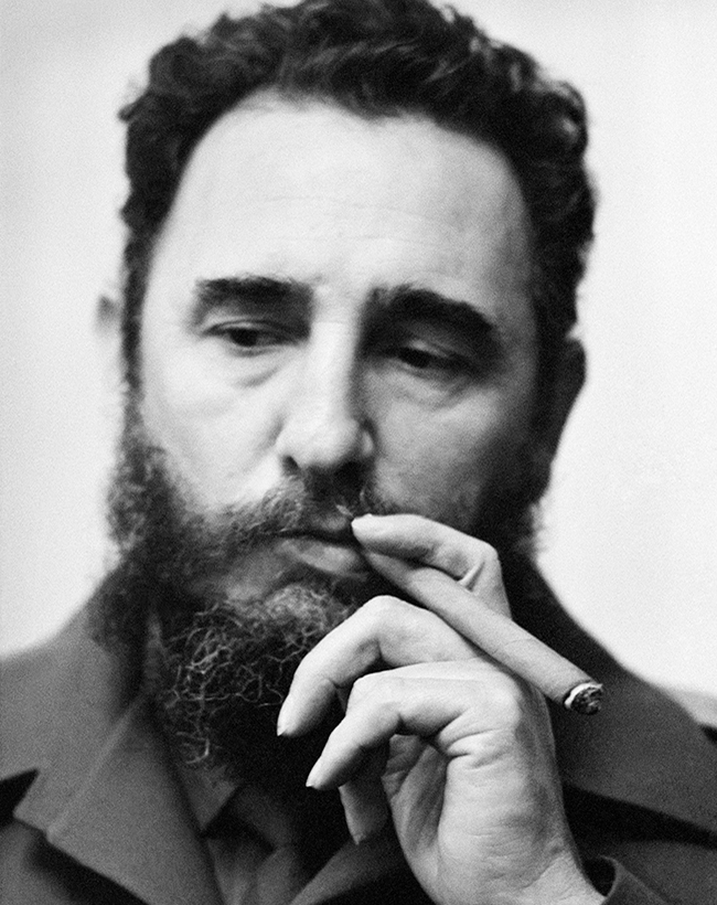 Fidel Castro in Moscow, 1976.